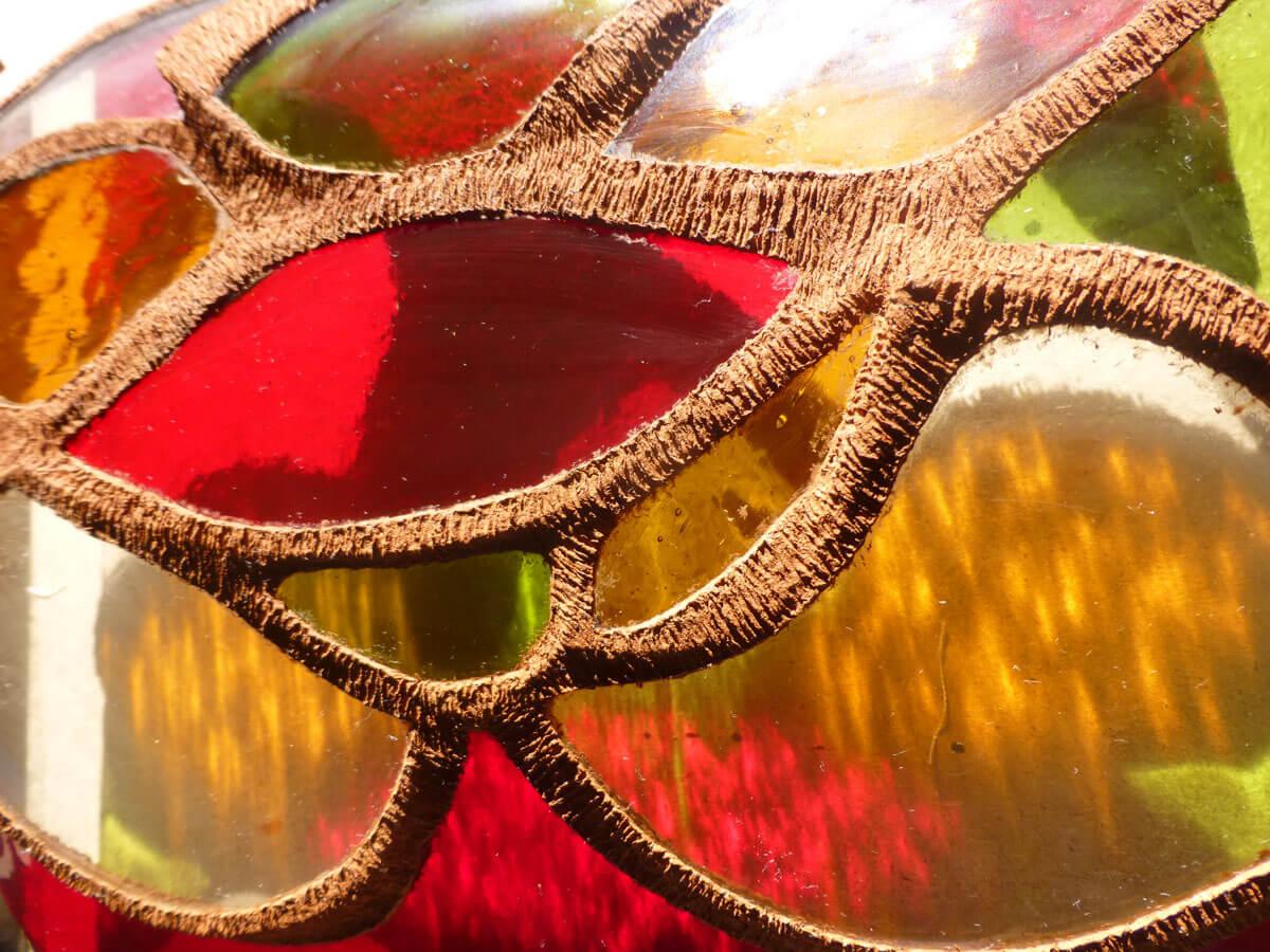 Création vitrail ecologique lampe Floraluz