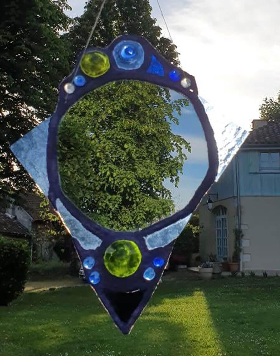 Création de vitrail réalisée par une stagiaire lors d'un stage d'initiation