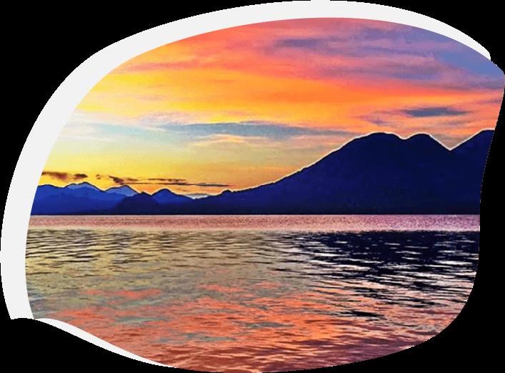 Lac au Guatemala où j'ai rencontré le vitrail écologique