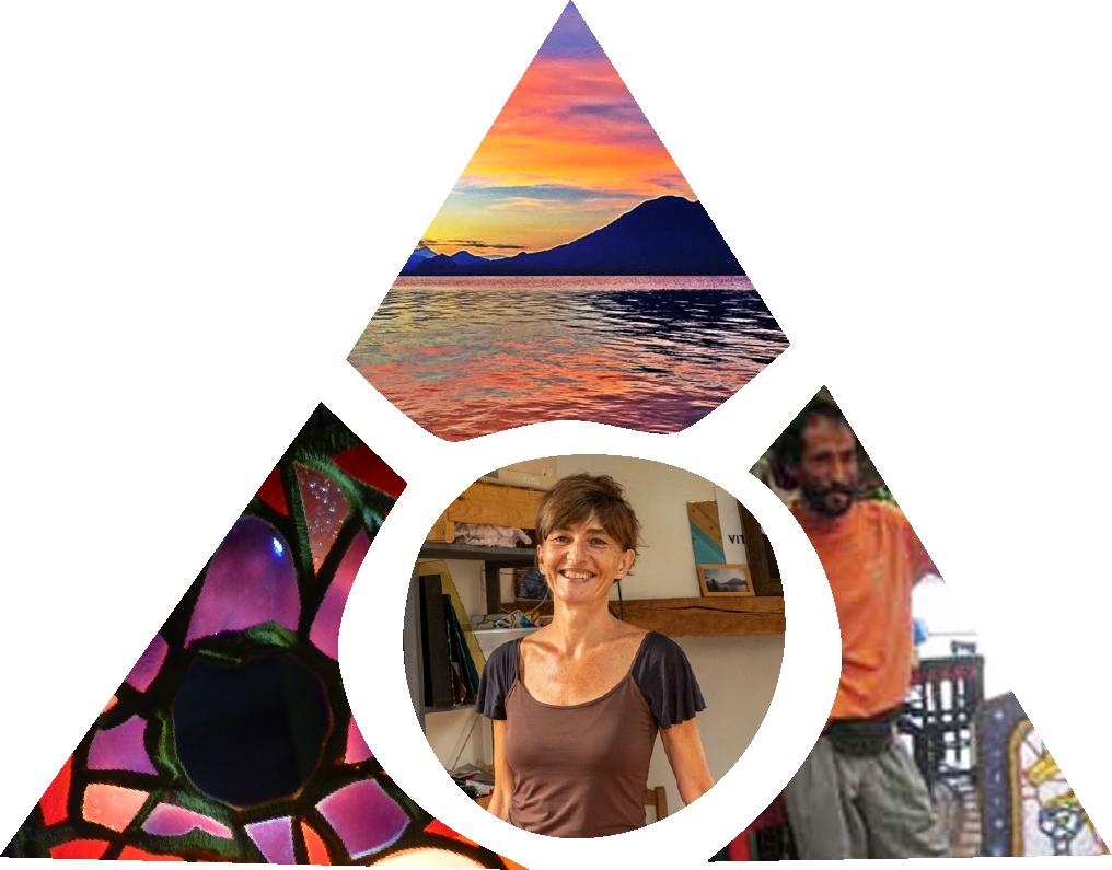 L'histoire du vitrail écologique est celle de la rencontre entre Florence Ferrié et Patik, vitrailliste mexicain, au Guatemala